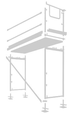 hilfskonstruktion aus einzelnen ger stbauteilen. Black Bedroom Furniture Sets. Home Design Ideas